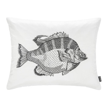 Pontus Silk Dupion Cushion - 40x50cm - Black/White
