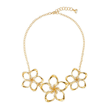 Bluum Crystal Blossom Necklace - Gold/Crystal