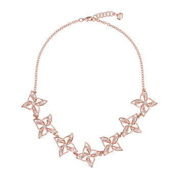 Charo Crystal Breeze Necklace - Rose Gold/Crystal