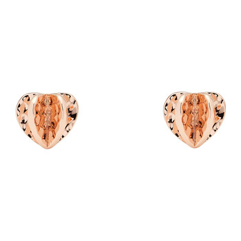 Hetti Confetti Heart Earrings - Rose Gold