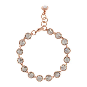Raalyn Rivoli Single Strand Bracelet - Rose Gold/Crystal