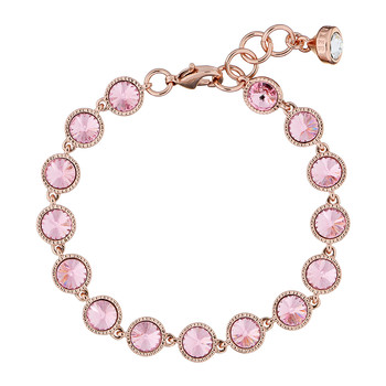 Raalyn Rivoli Single Strand Bracelet - Rose Gold/Light Rose