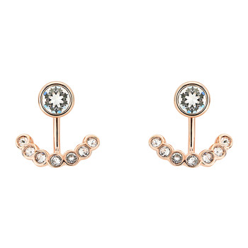 Coraline Concentric Crystal Earrings - Rose Gold