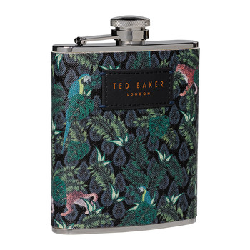 Jungle Print Hip Flask