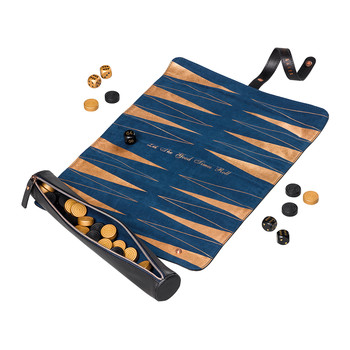 Black Brogue Backgammon Roll