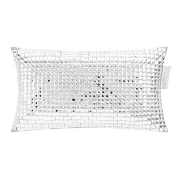 Square Diamond Bed Cushion - 18x32cm - Silver