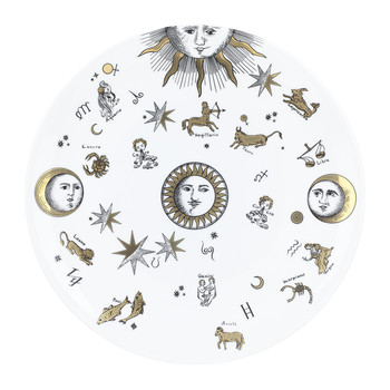 Astronomici Plate - Black/White/Gold