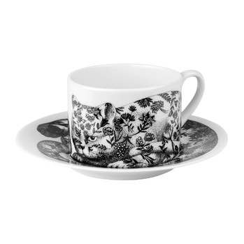 High Fidelity Teacup & Saucer - Fiorato