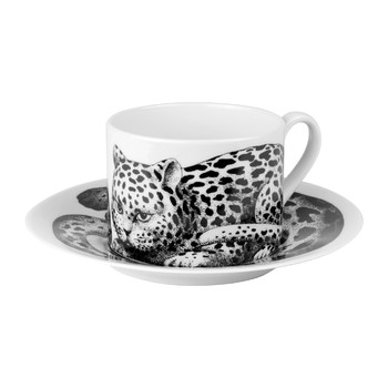 High Fidelity Teacup & Saucer - Leopardato Skin