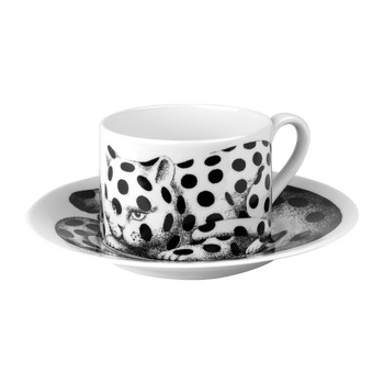 High Fidelity Teetasse mit Untertasse - Pois