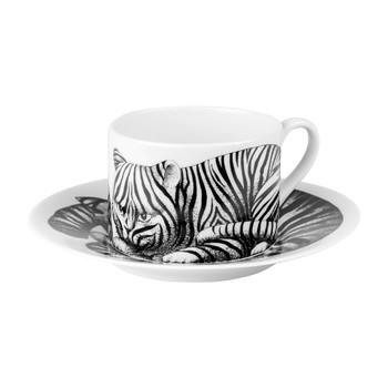 High Fidelity Teacup & Saucer - Tigrato