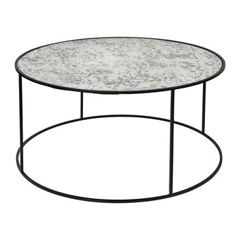 Stends Table - Iron & Glass - Black