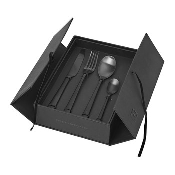 Hune Cutlery Set - Titanium Matt Black