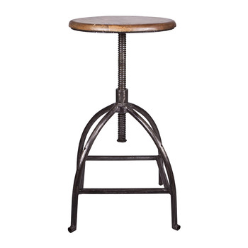 Sire Stool - Wood/Iron - Natural