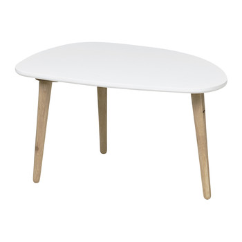 Jeny Curve Side Table - White