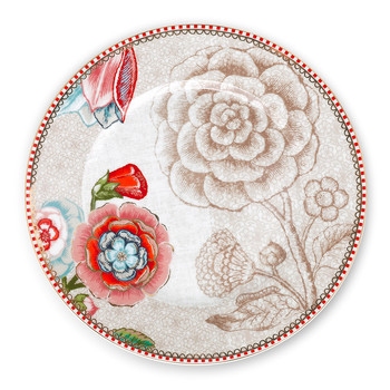 Spring To Life Side Plate - Cream