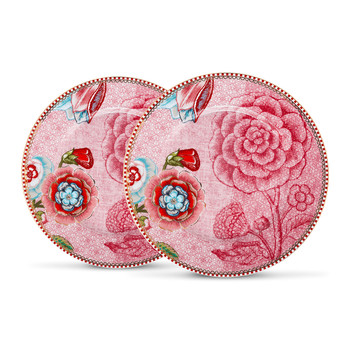 Spring To Life Plates - Set of 2 - Pink