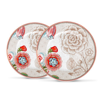 Spring To Life Plates - Set of 2 - Cream