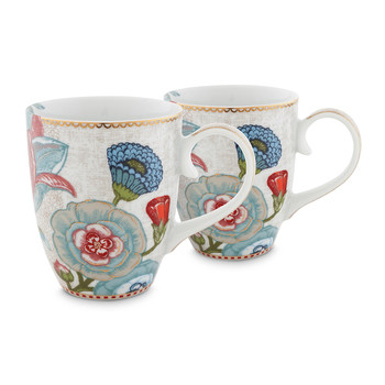 Spring To Life Mug - Large - Set of 2 - Cream
