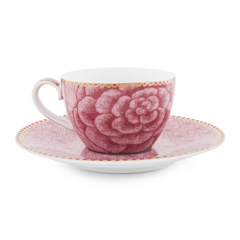 Spring To Life Espresso Cup & Saucer - Pink