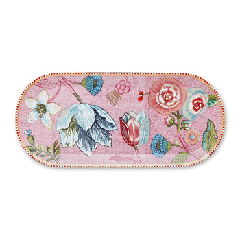 Spring To Life Rectangular Cake Tray - Pink