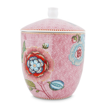 Spring To Life Storage Jar - Pink