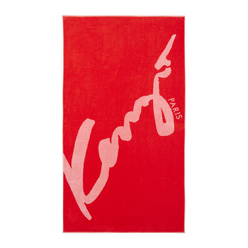Sign Beach Towel - Red