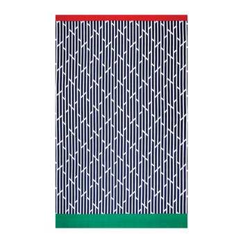 Wavy Flag Beach Towel - Navy