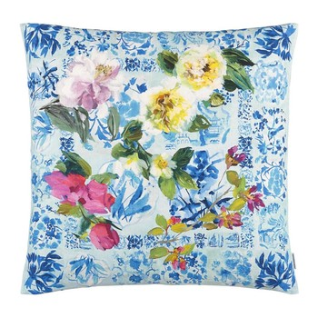 Majolica Cushion - 60x60cm - Cornflower