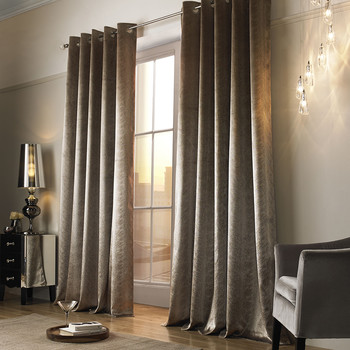 Adelphi Lined Eyelet Curtains - Caramel