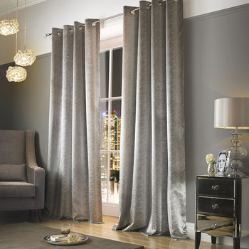 Adelphi Lined Eyelet Curtains - Mist