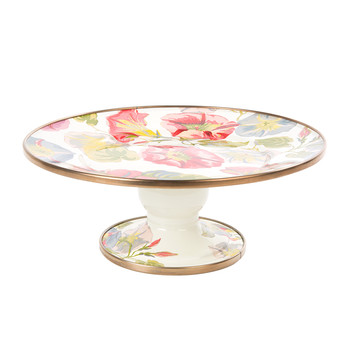 Morning Glory Pedestal Platter - Mini