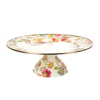 Morning Glory Pedestal Platter - Large