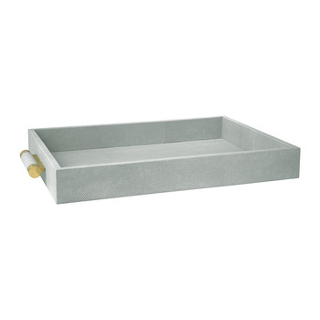 Classic Shagreen Serving Tray - Mist