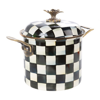 Courtly Check Enamel Stockpot