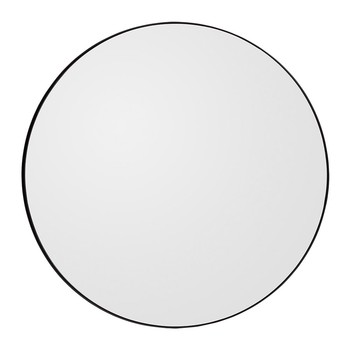 Circum Round Wall Mirror - Black