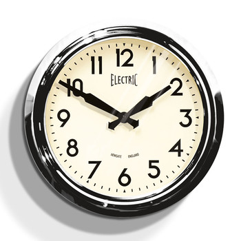 50's Electric Clock - Chrome