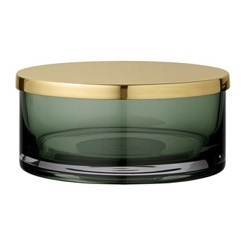 Tota Jar with Lid - Forest & Brass