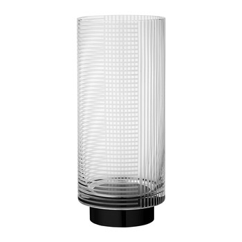 Vitreus Vase - Clear/Black
