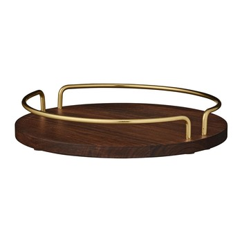 Vitta Small Tray - Walnut & Brass