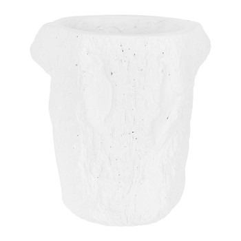 Tree Trunk Pot - White