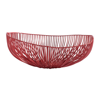 Ovalel Meo Decorative Dish - Red