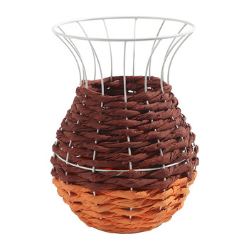 Marie Fluo Basket with Lip - Orange/Brown
