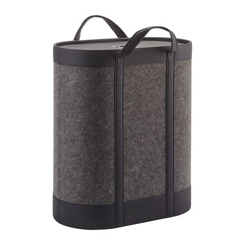 Blix Laundry Basket - Dark Grey