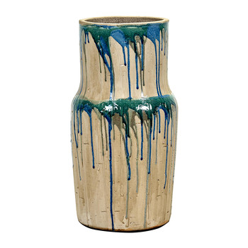 Green/Blue Drops Vase