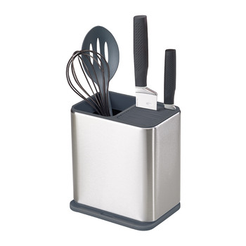 Radius Utensil Pot - Stainless Steel