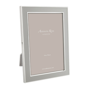 Light Gray Enamel Photo Frame