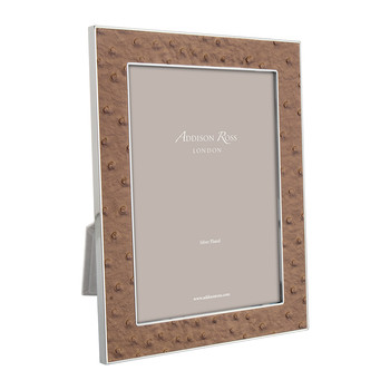 Nutmeg Faux Ostrich Photo Frame