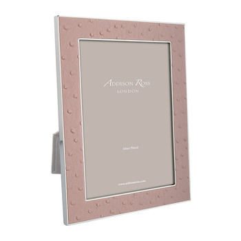 Blush Faux Ostrich Photo Frame - 4x6""