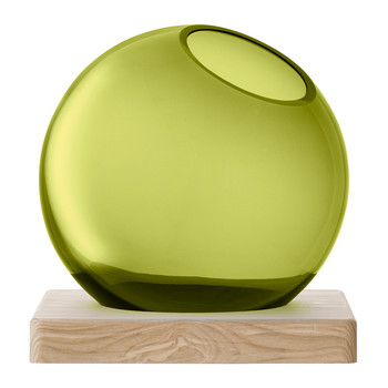 Axis Vase & Ash Base - Olive Green